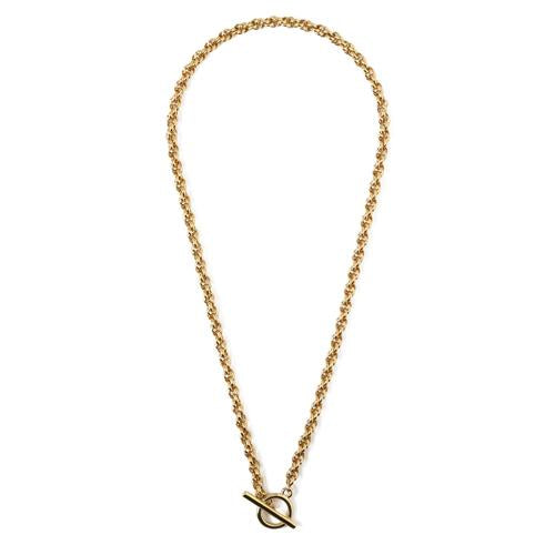 Orelia chunky rope chain t-bar necklace