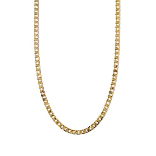 ORELIA FLAT LINK CURB CHAIN NECKLACE