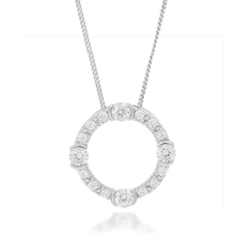 V BY LAURA VANN LUNA CIRCLE NECKLACE
