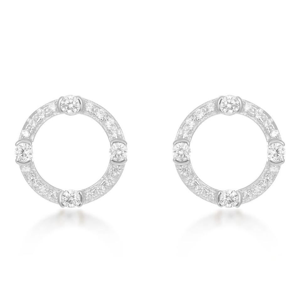 V BY LAURA VANN LUNA CIRCLE STUD EARRINGS