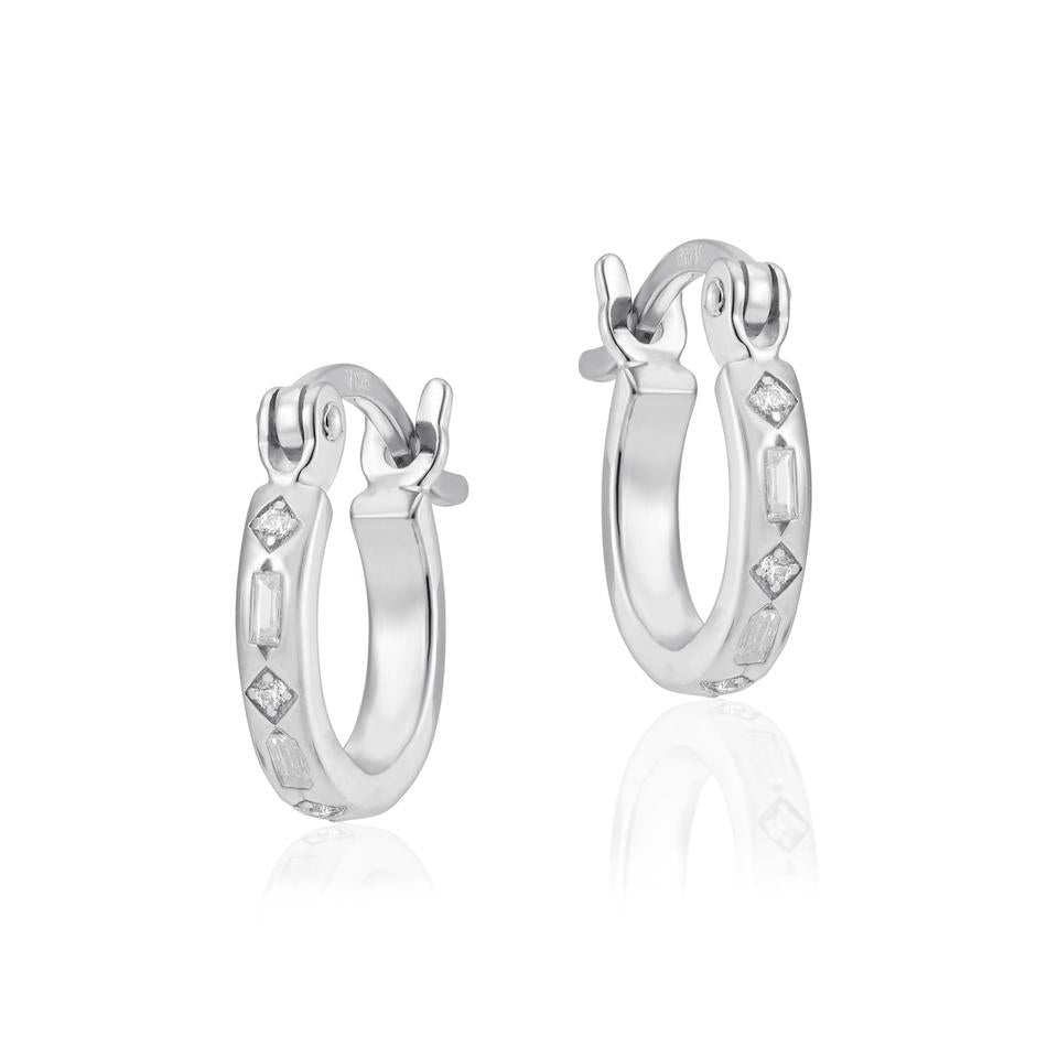 V BY LAURA VANN IRIS HOOP EARRINGS