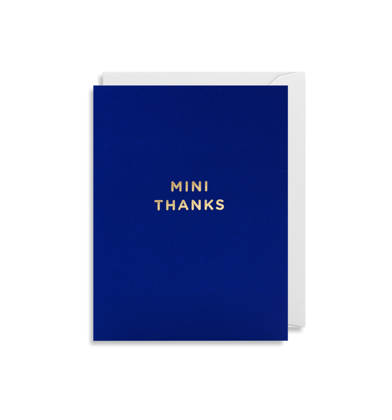 MINI THANKS CARD