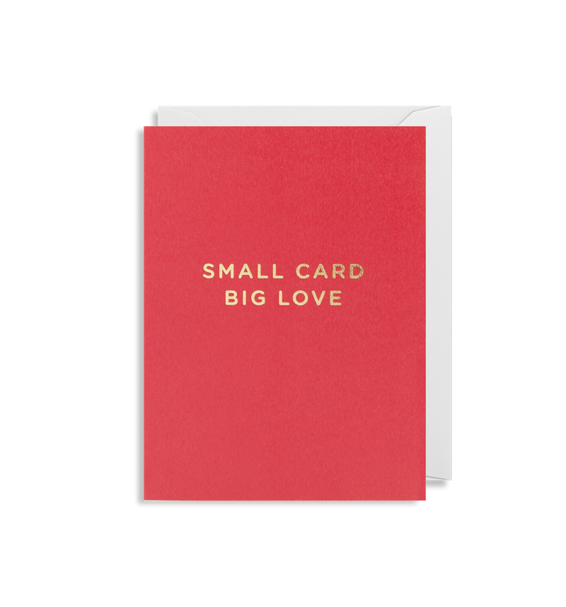 SMALL CARD BIG LOVE CARD