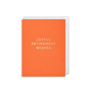 JOYFUL RETUREMENT WISHES CARD