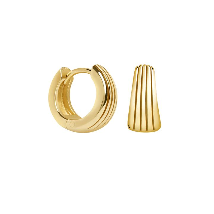 ASTRID & MIYU RADIENT TEXTURED HUGGIE EARRINGS
