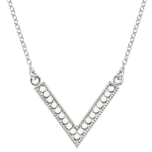 ANNA BECK REVERSIBLE V NECKLACE