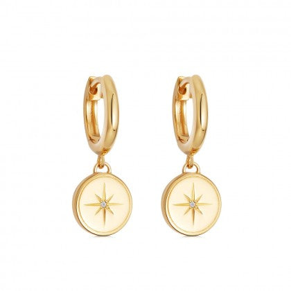 ASTLEY CLARKE CELESTIAL COMPASS DROP EARRINGS