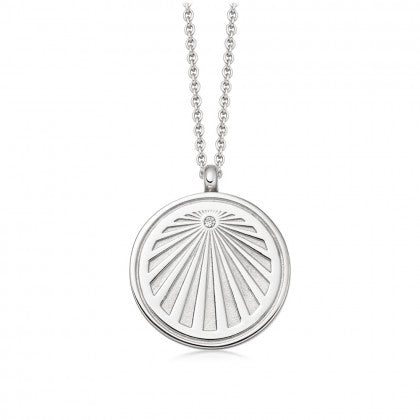 ASTLEY CLARKE CELESTIAL SUNRISE LOCKET NECKLACE