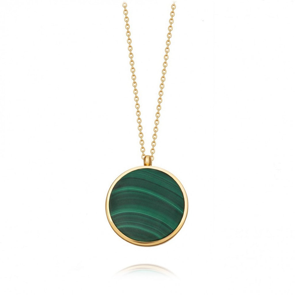 ASTLEY CLARKE MALACHITE SLICE STILLA LOCKET NECKLACE