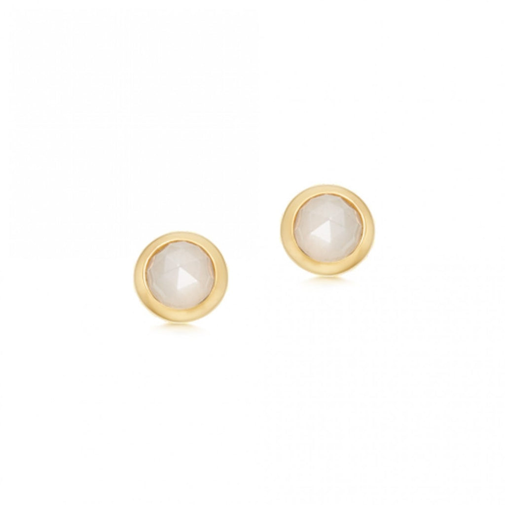 ASTLEY CLARKE MINI MOONSTONE STILLA STUD EARRINGS