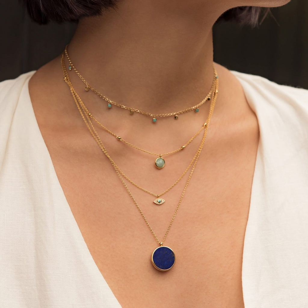 ASTLEY CLARKE TURQUISE DROPLET NECKLACE