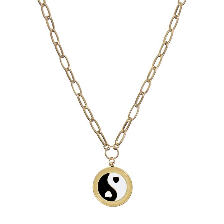 WILHELMINA GARCIA BLACK YIN YANG NECKLACE