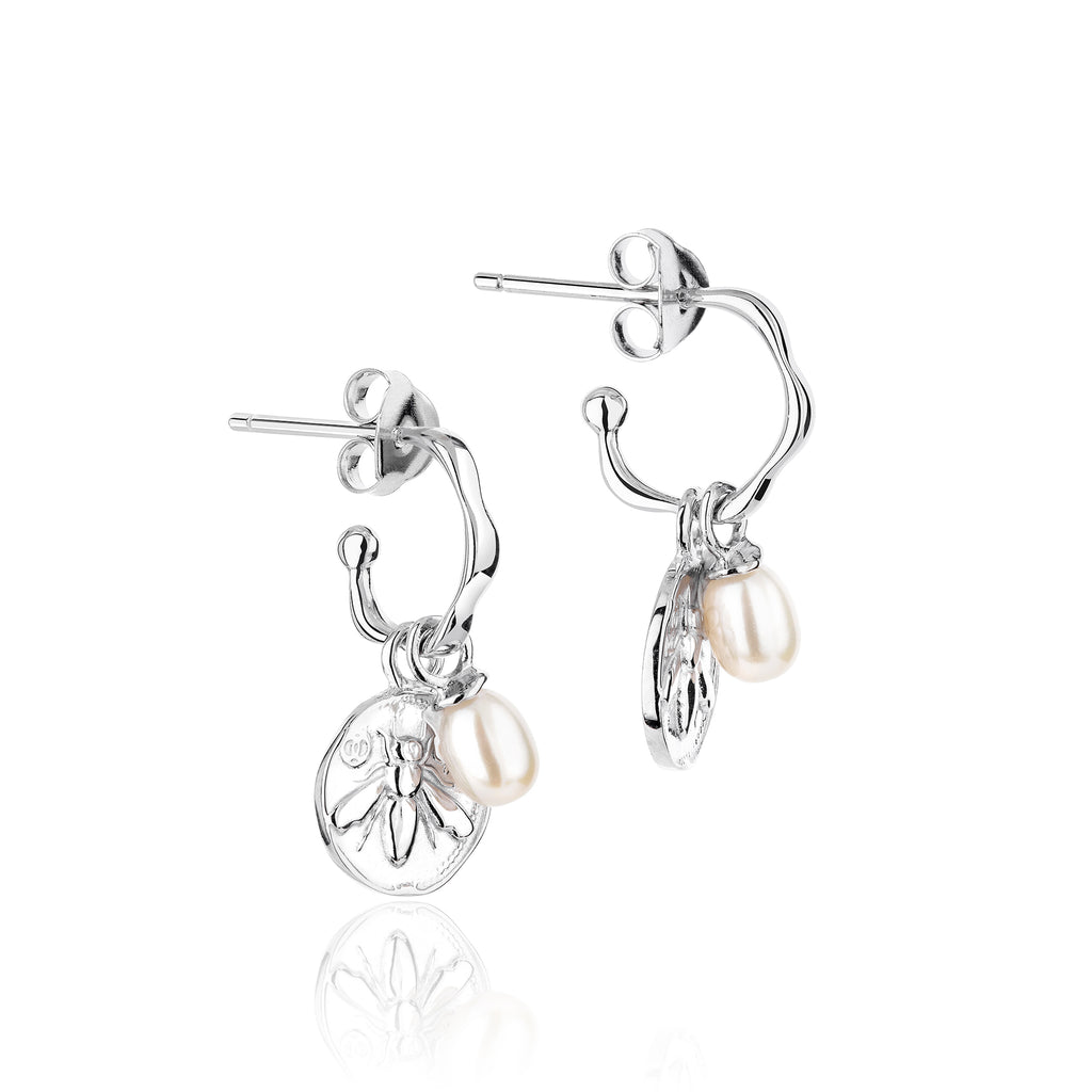 CLAUDIA BRADBY Honeybee Charmed Small Hoop Earrings