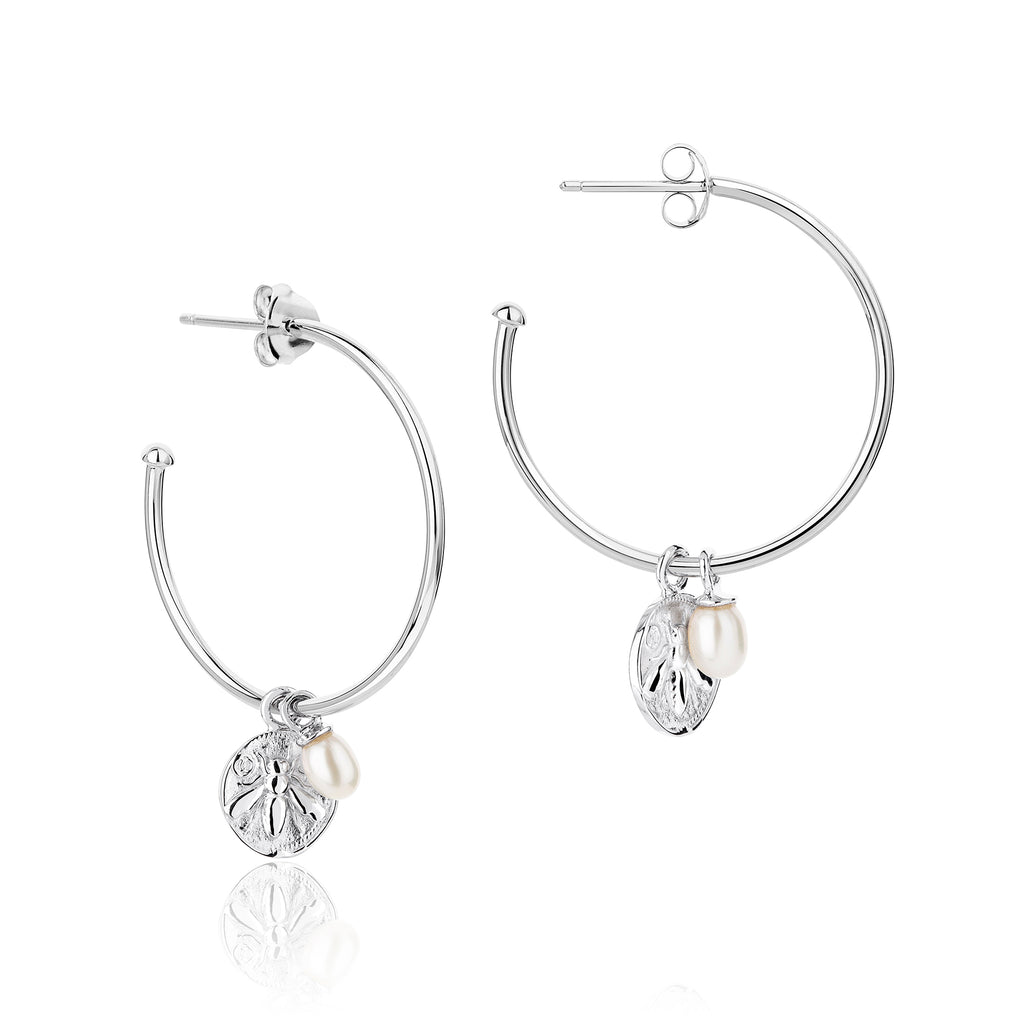 CLAUDIA BRADBY Honeybee Charmed Big Hoop Earrings
