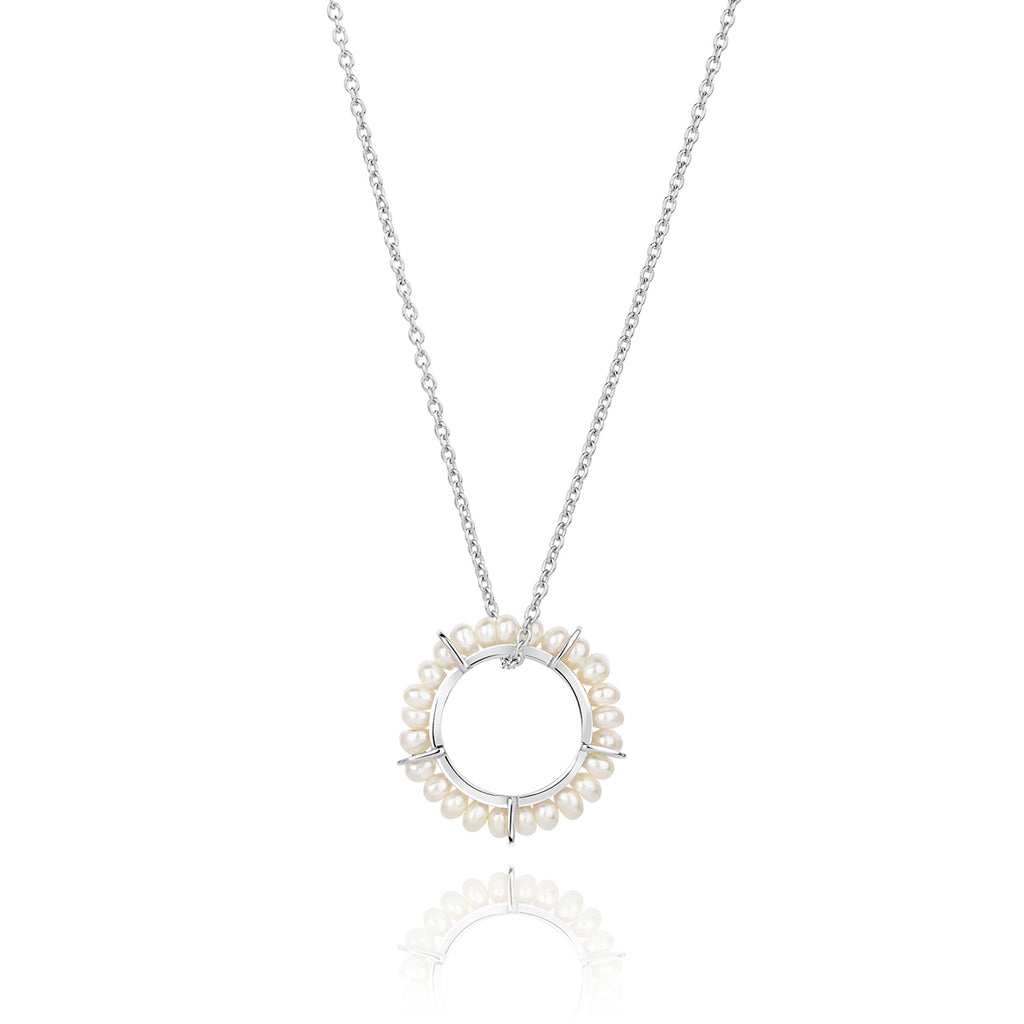 CLAUDIA BRADBY CIRCLE OF LIFE PEARL RING LONG PENDANT