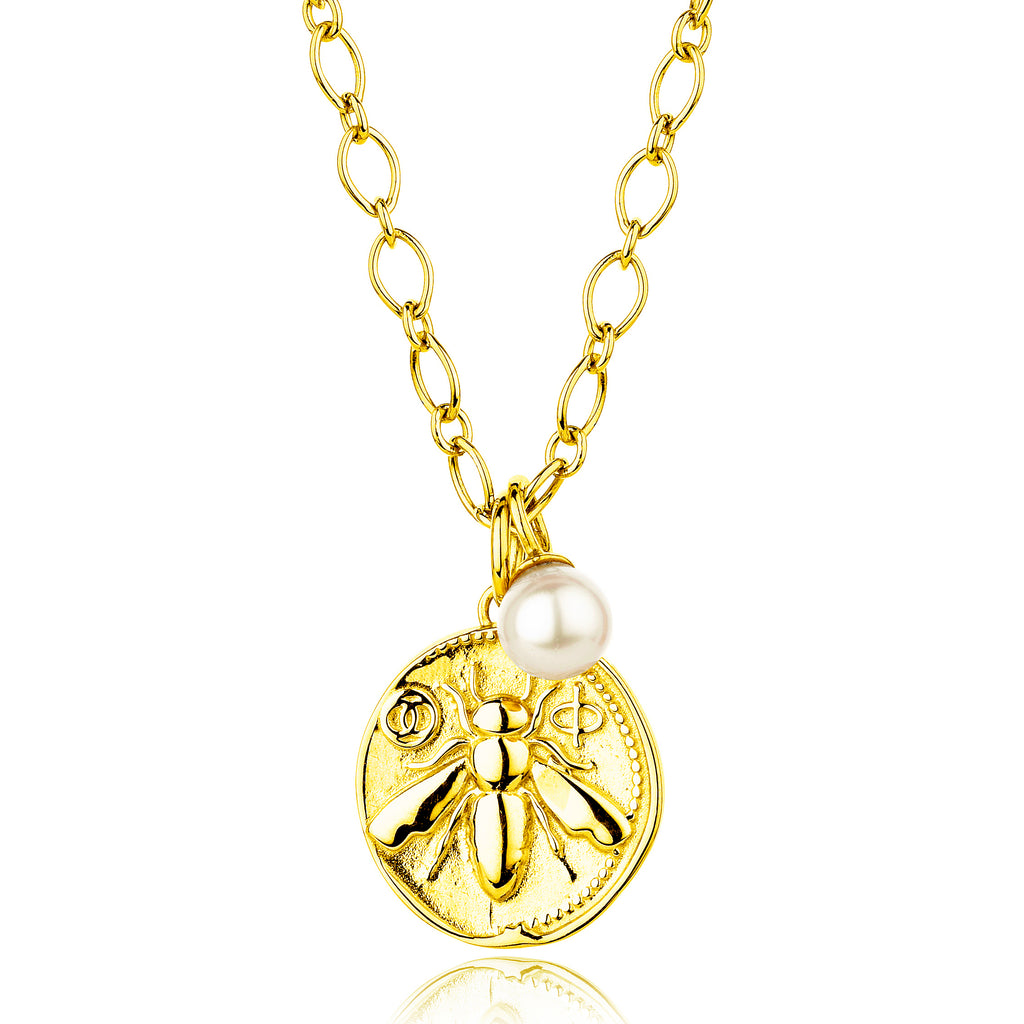 CLAUDIA BRADBY Honeybee Medium Coin Necklace