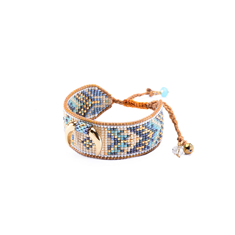 MISHKY CRESCENT BEADED BRACELET