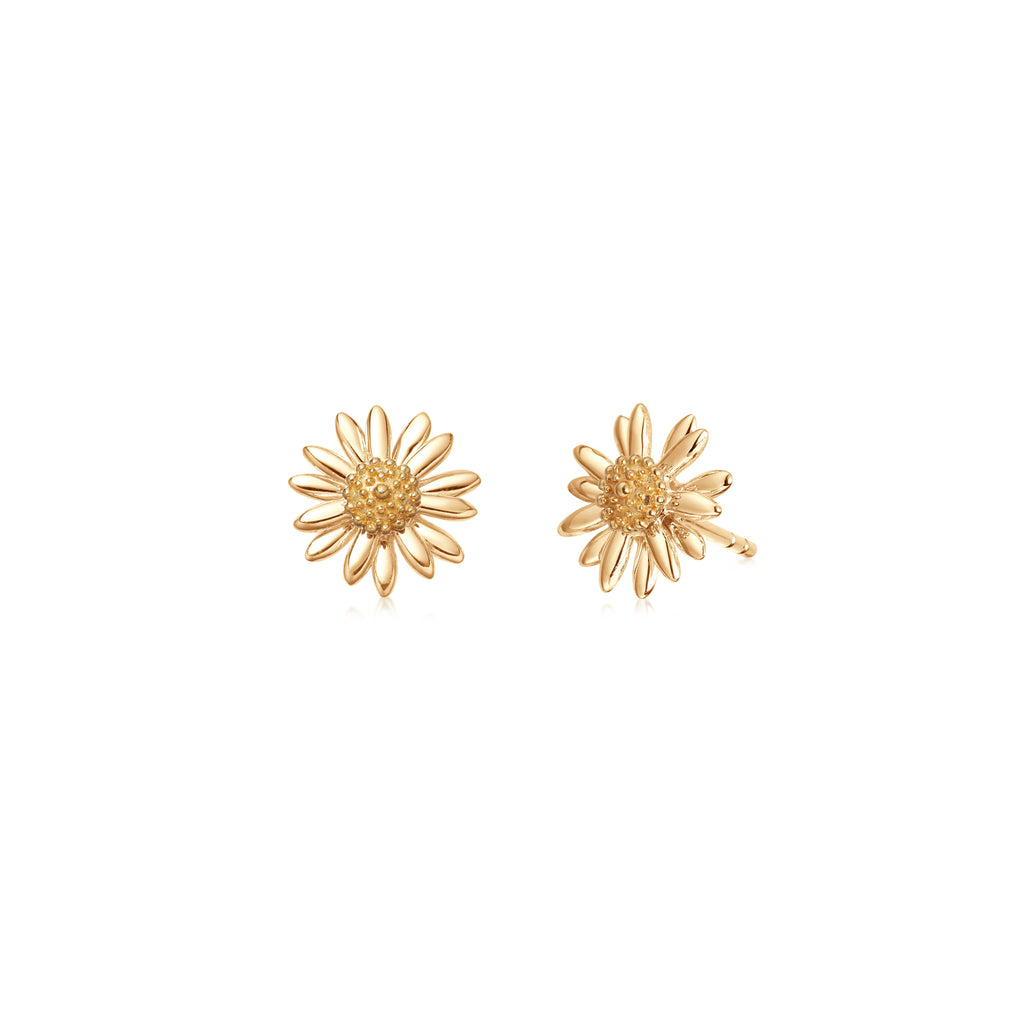DAISY LONDON GOLD DAISY STUD EARRINGS