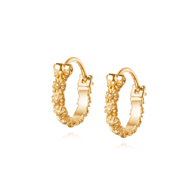 DAISY LONDON IOTA DAISY HOOP EARRINGS