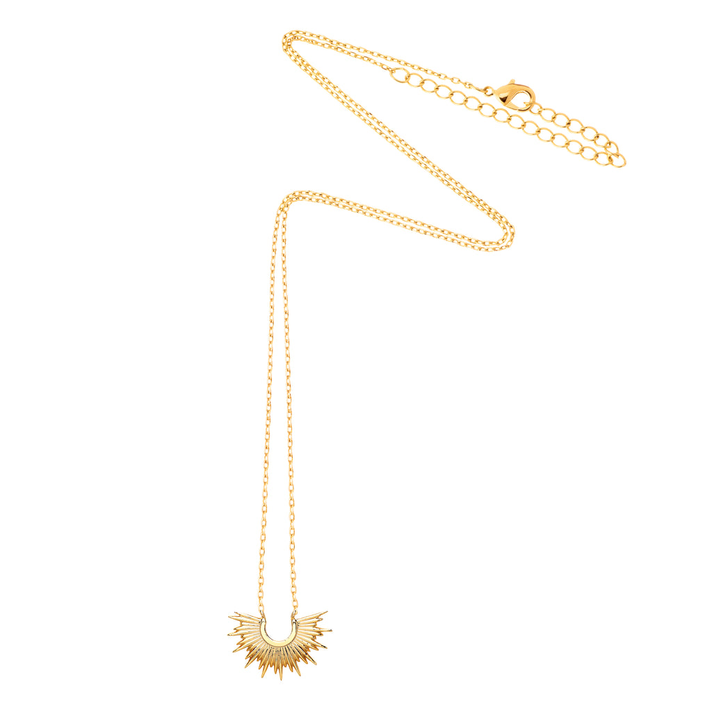 ESTELLA BARTLETT HALF SUNBURST NECKLACE
