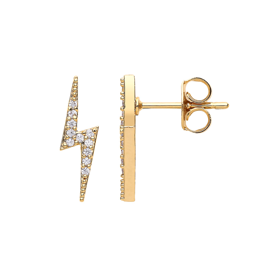 ESTELLA BARTLETT LIGHTNING BOLT EARRINGS