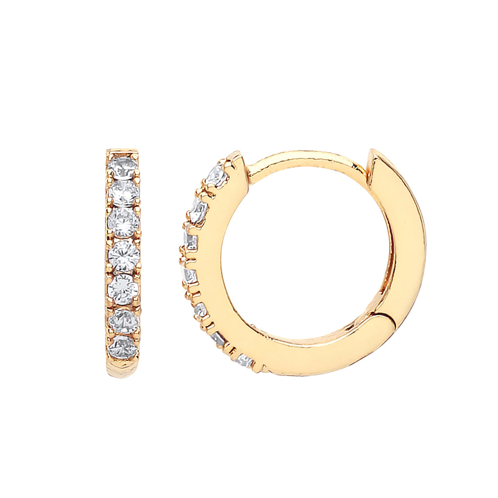 ESTELLA BARTLETT CZ HOOP EARRINGS