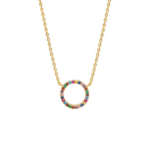 ESTELLA BARTLETT RAINBOW CIRCLE NECKLACE