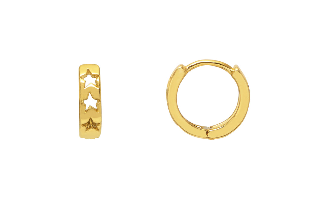 ESTELLA BARTLETT CUT OUT STAR HUGGIE EARRINGS