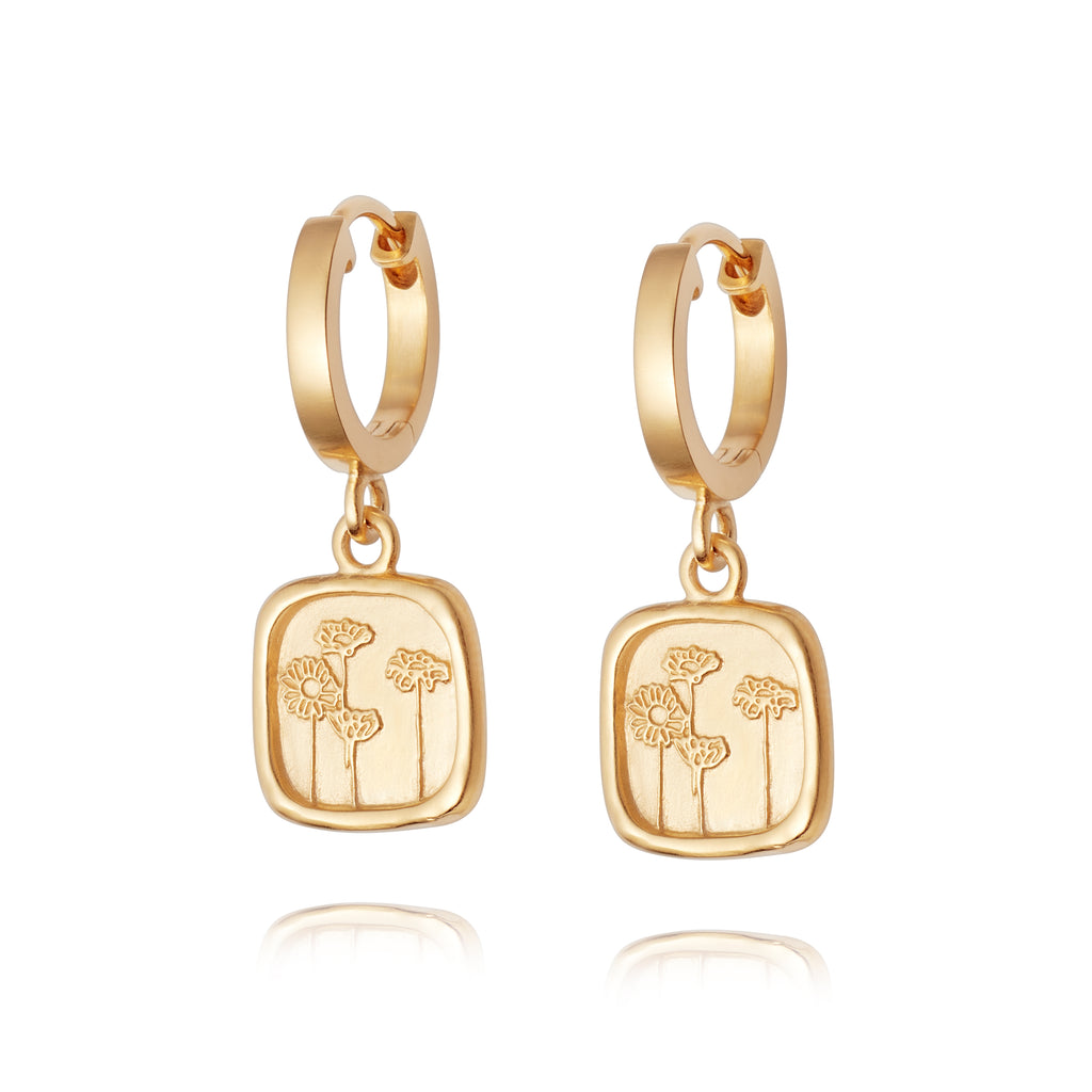 DAISY LONDON WILD DAISIES DROP EARRINGS