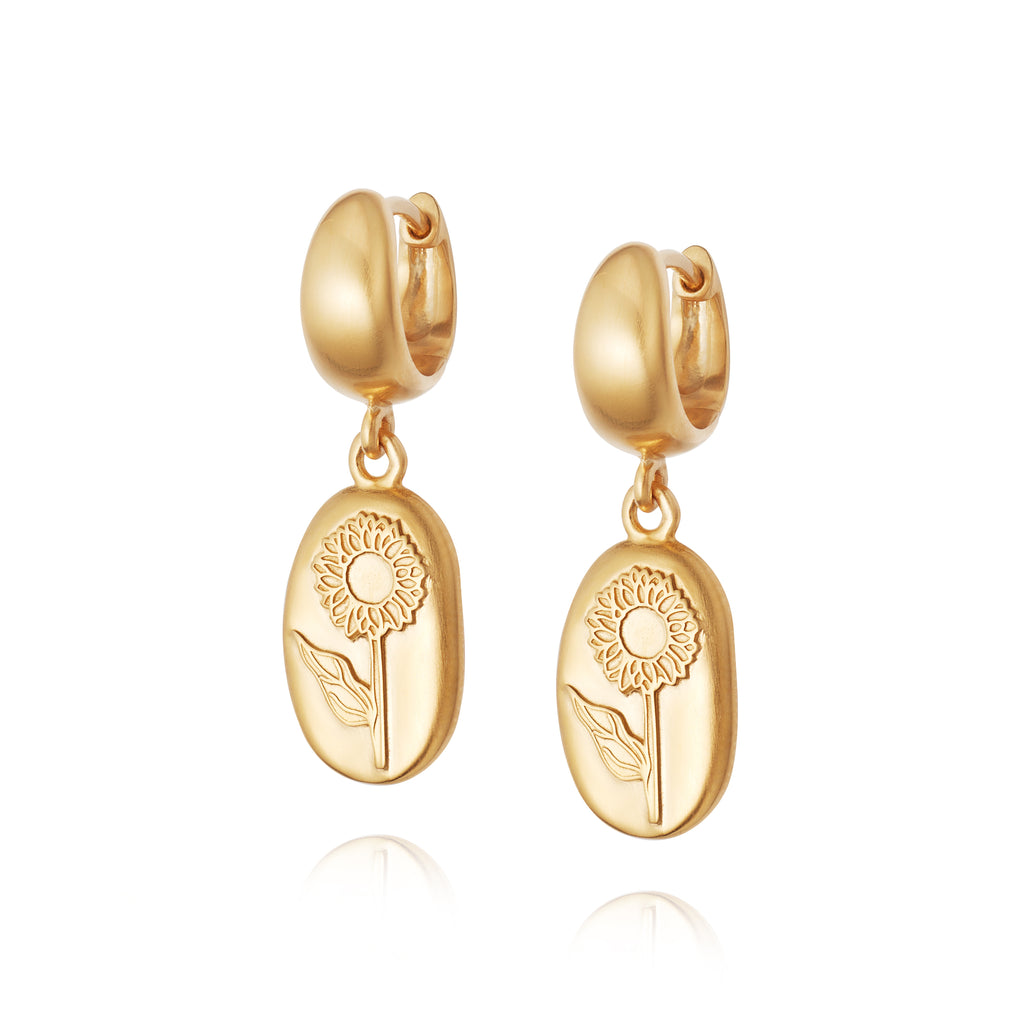DAISY LONDON SUNFLOWER DROP EARRINGS