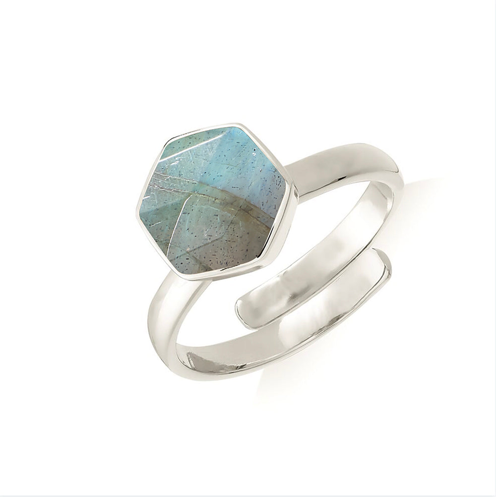 SVP LABRADORITE FIRESTARTER ADJUSTABLE RING