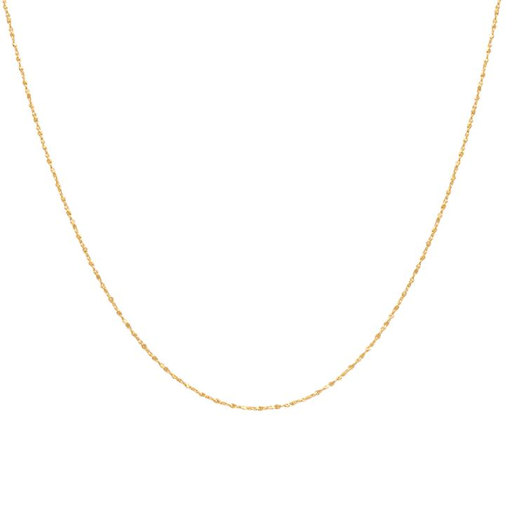 ASTRID & MIYU FINE TWIST CHAIN NECKLACE