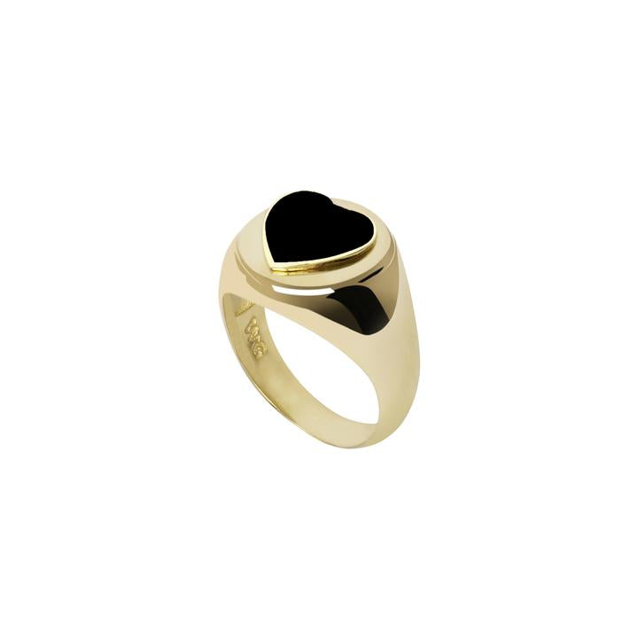 WILHELMINA GARCIA BLACK HEART RING