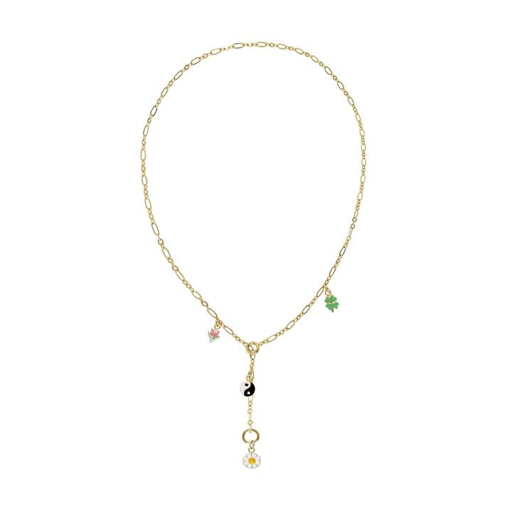 WILHELMINA GARCIA 4 CHARM NECKLACE