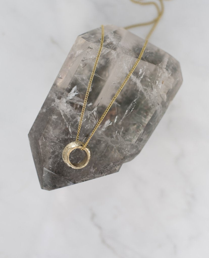 TRIBE + FABLE ETHEOPIAN PROMISE RING NECKLACE