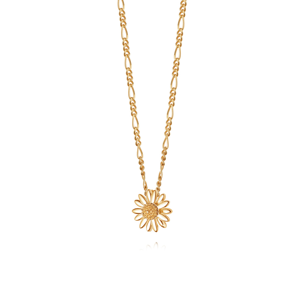 DAISY LONDON 12MM GOLD DAISY NECKLACE