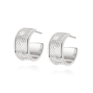DAISY LONDON ARTISAN CHUNKY HOOP EARRINGS