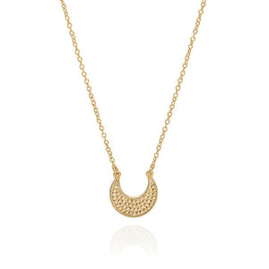ANNA BECK SMALL GOLD CRESCENT NECKLACE