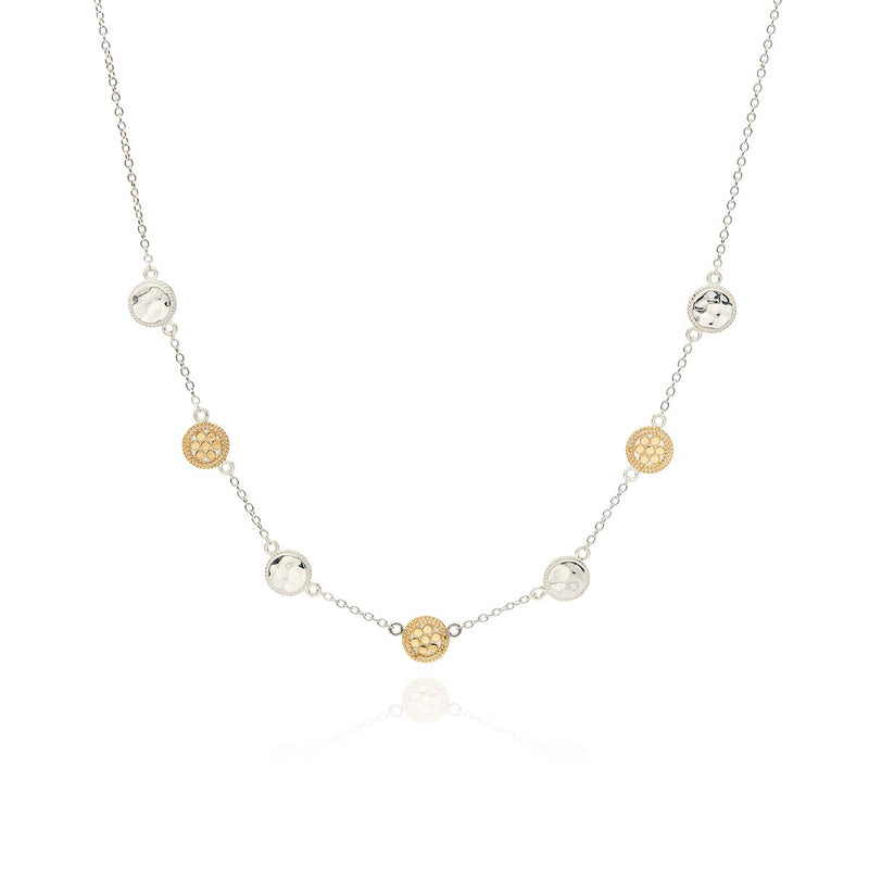 ANNA BECK HAMMERED STATION NECKLACE