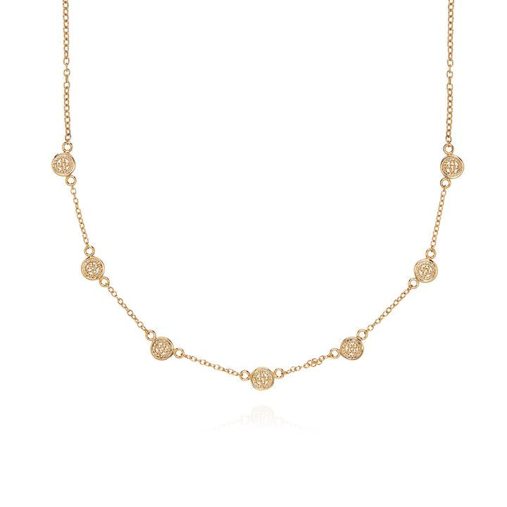 ANNA BECK Classic Mini Disc Collar Necklace