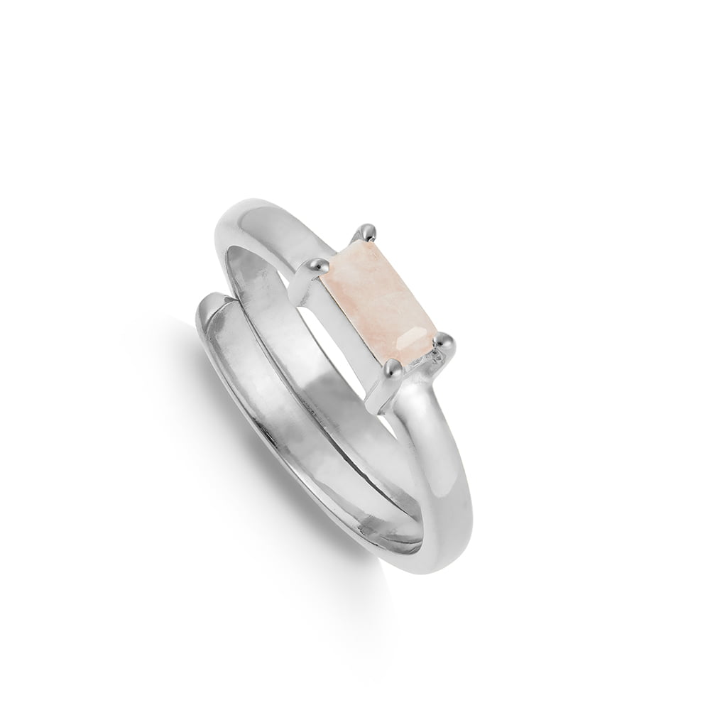 SVP SMALL NIRVANA MORGANITE ADJUSTABLE RING