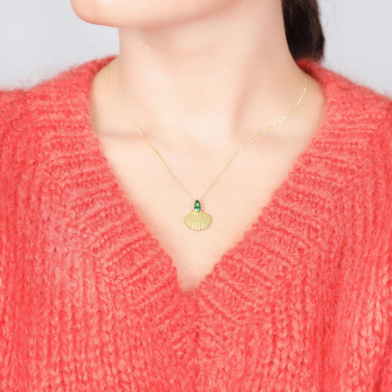 V BY LAURA VANN PAMELA SHELL NECKLACE