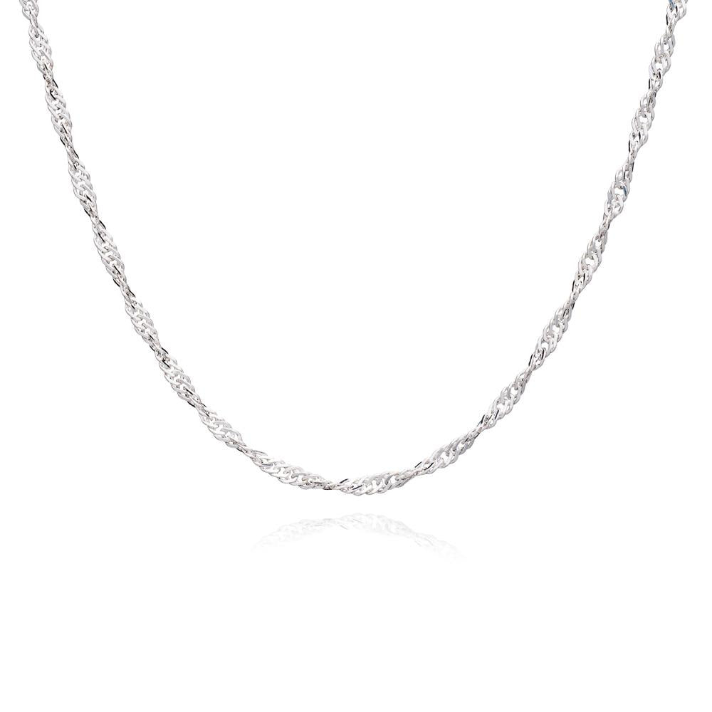 RACHEL JACKSON MID-LENGTH SPARKLE TWIST CHAIN NECKLACE