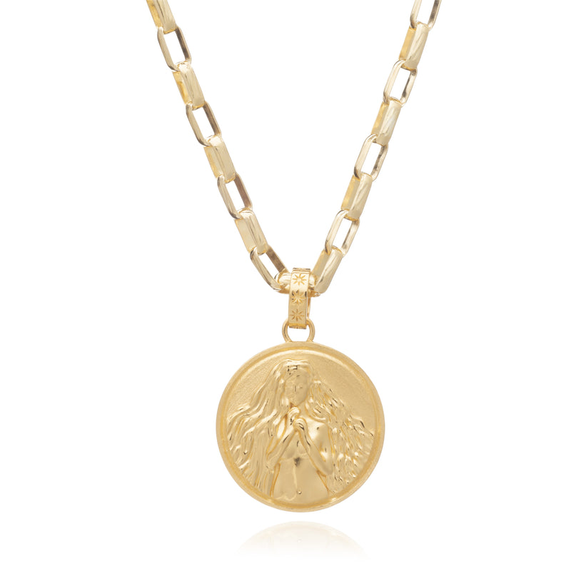 RACHEL JACKSON STATEMENT ZODIAC ART COIN NECKLACE