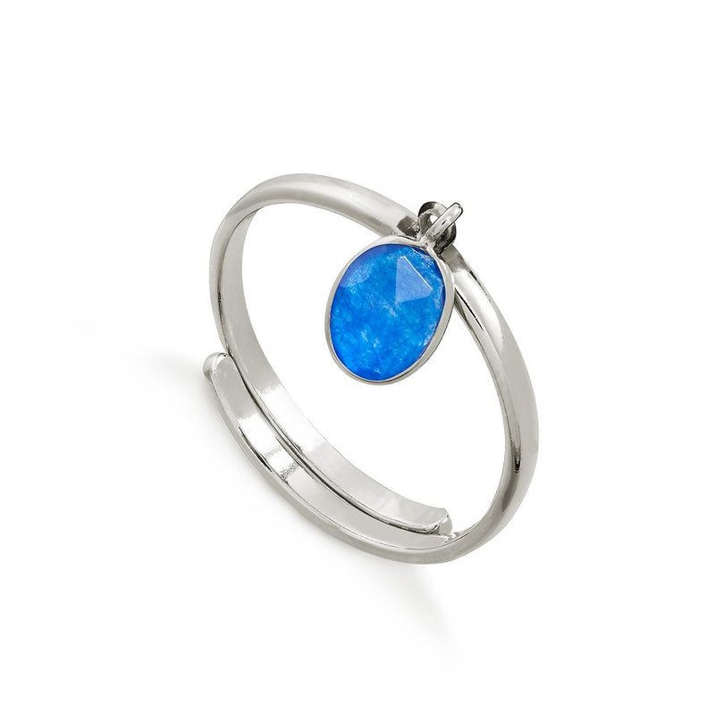 SVP BLUE QUARTZ RIO ADJUSTABLE RING