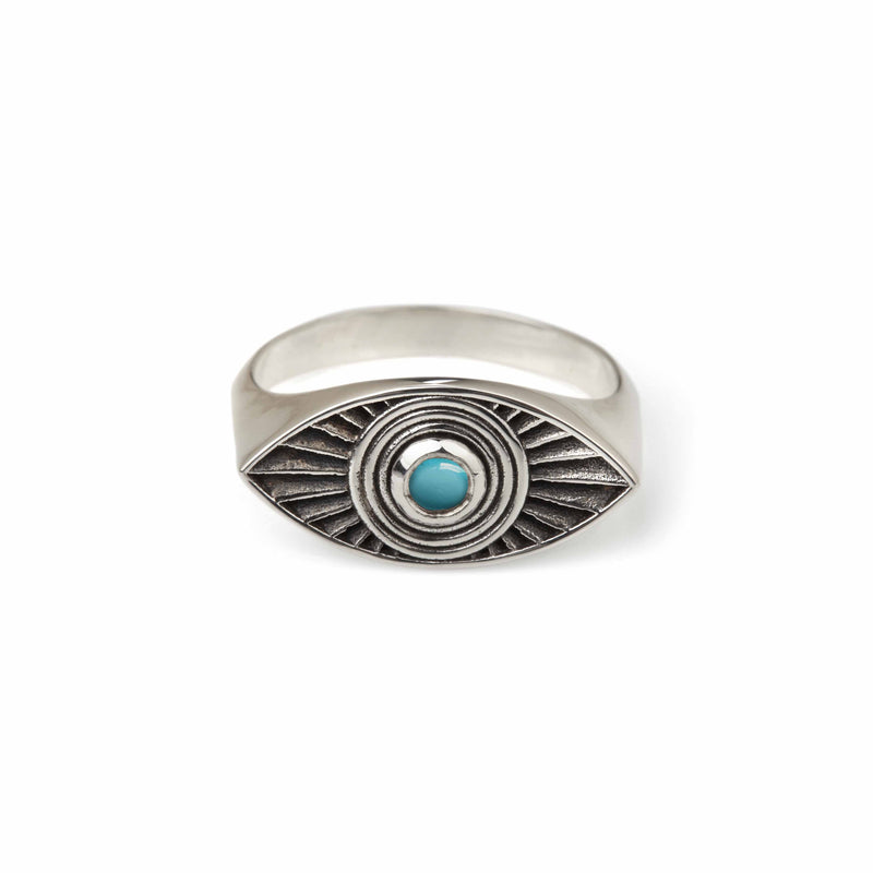RACHEL ENTWISTLE RAYS OF LIGHT TURQUOISE RING