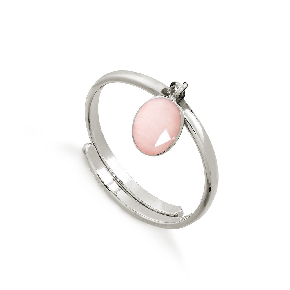 SVP ROSE QUARTZ RIO ADJUSTABLE RING
