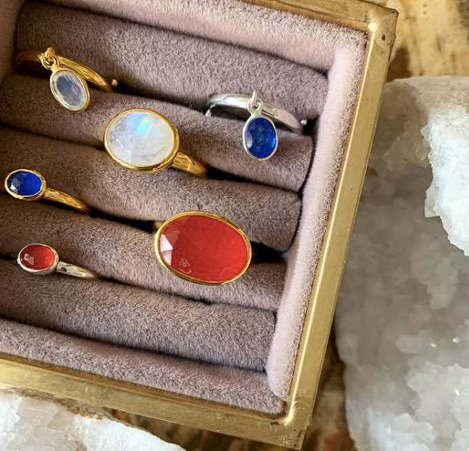 SVP RAINBOW MOONSTONE MOONDANCE ADJUSTABLE RING