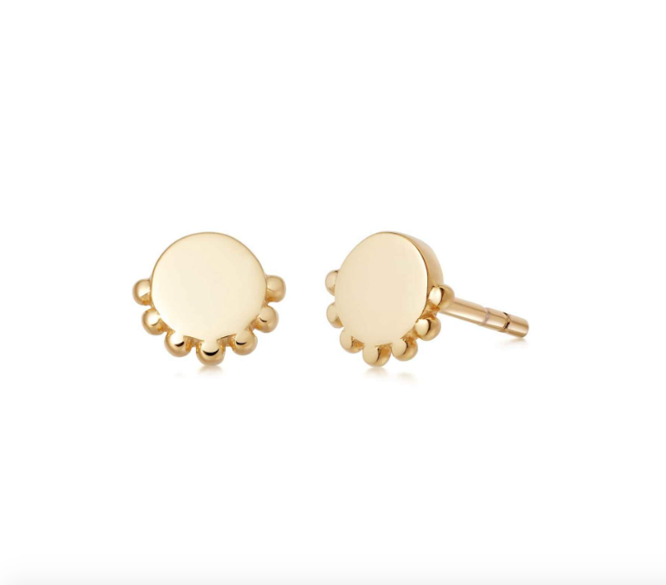 DAISY LONDON STACKED ROUND BEADED STUD EARRINGS