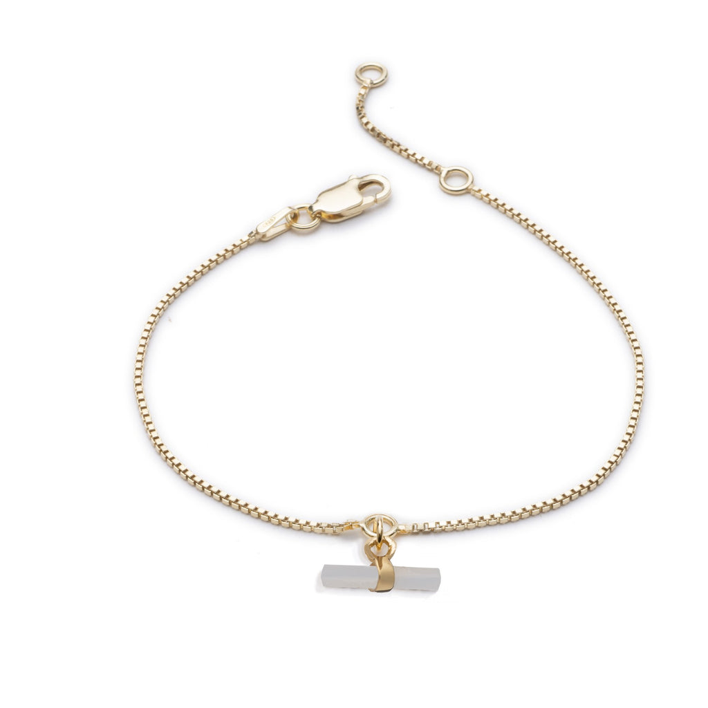 RACHEL JACKSON Mini Mother of Pearl T Bar Bracelet